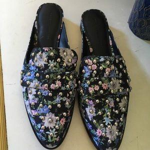 Rebecca Minkoff Miley's Floral Mules Flats 10.5
